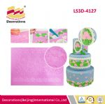 LS3D-4127 Rose silicone lace mat